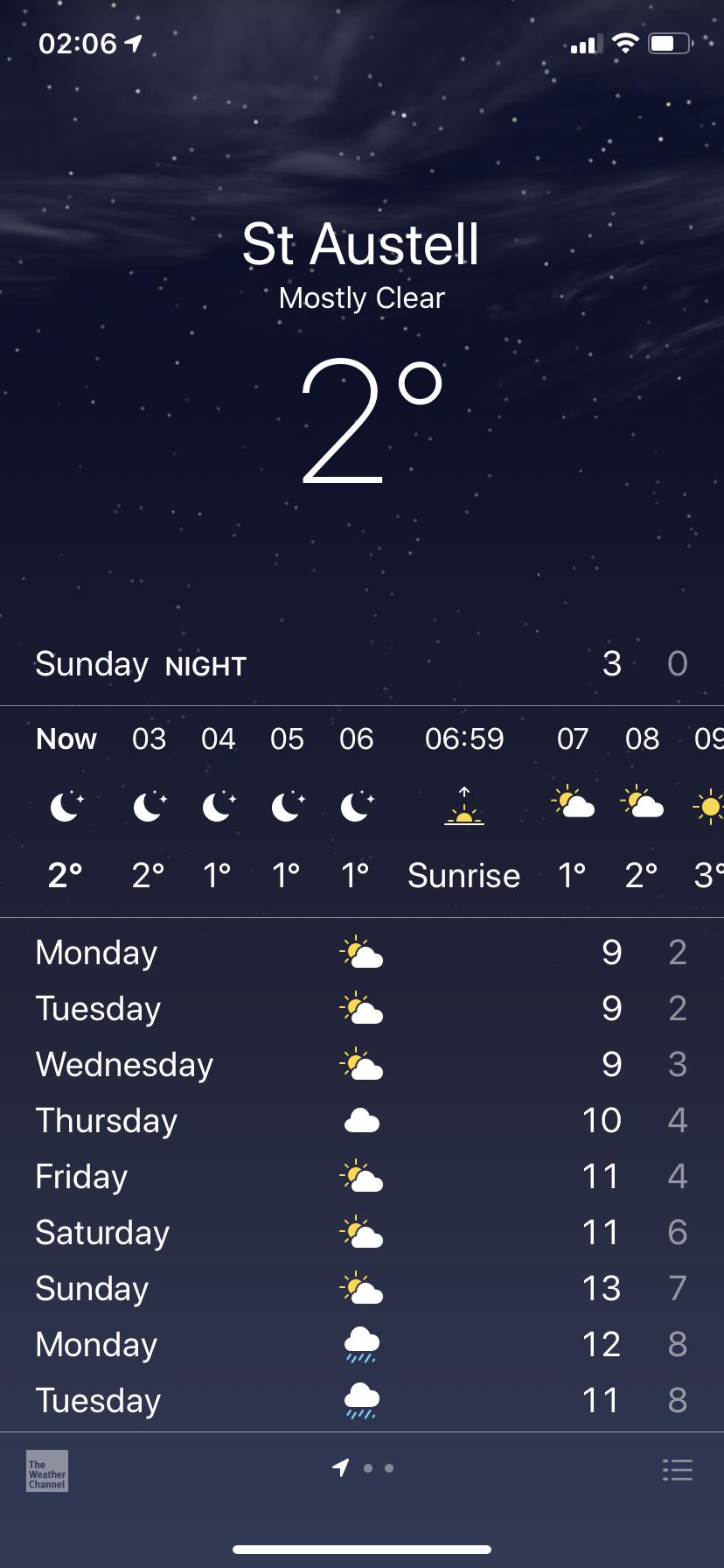 Weather app ios