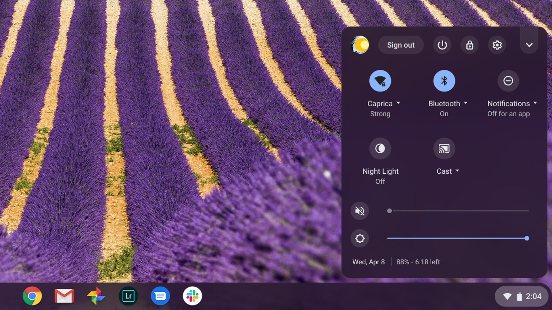 Asus Chromebook Flip C436 review Battery meter