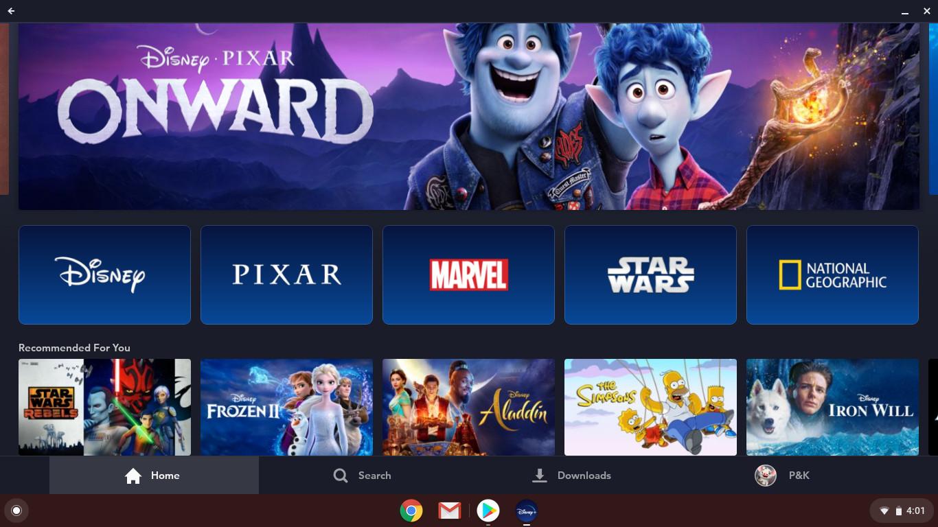 Disney Plus on Chromebook