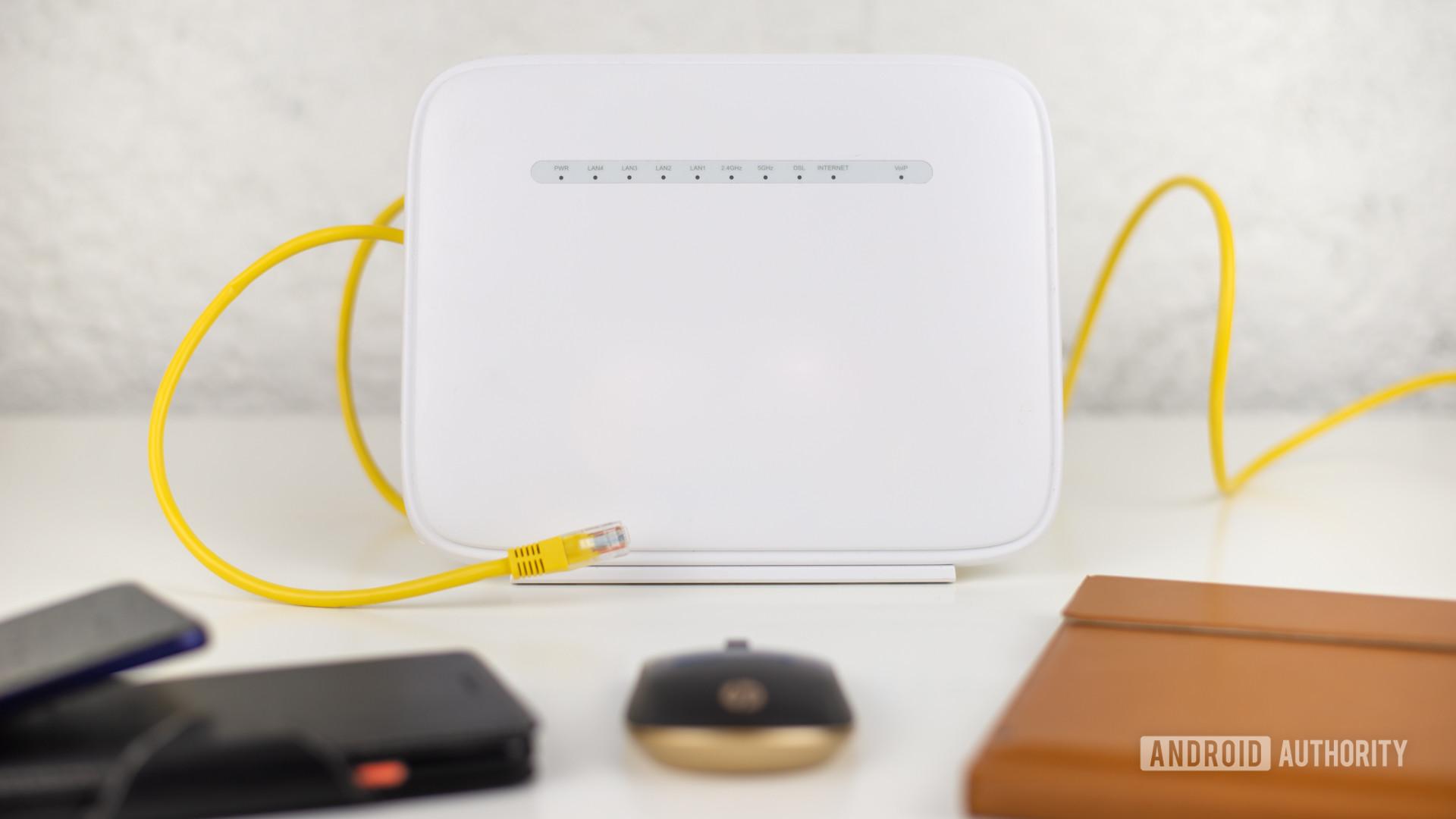 Ethernet vs Wi Fi stock photo 2