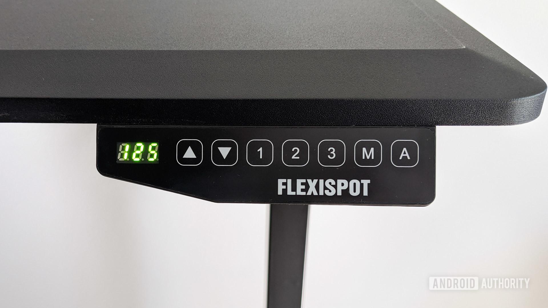 FlexiSpot E5 standing desk review control panel closeup