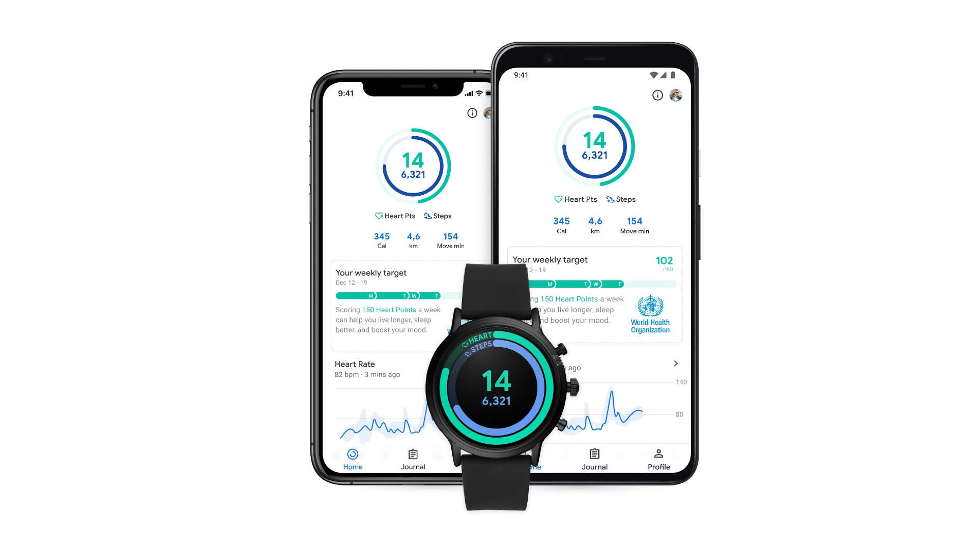 The Google Fit redesign for 2020.