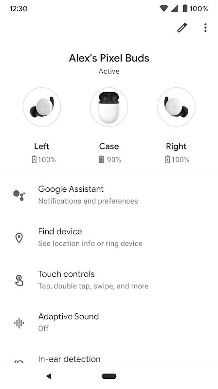 Google Pixel Buds App 1
