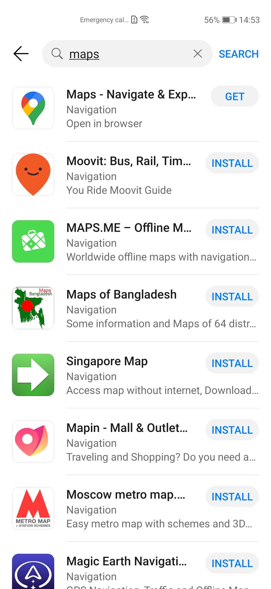 Huawei AppGallery Google Maps 1