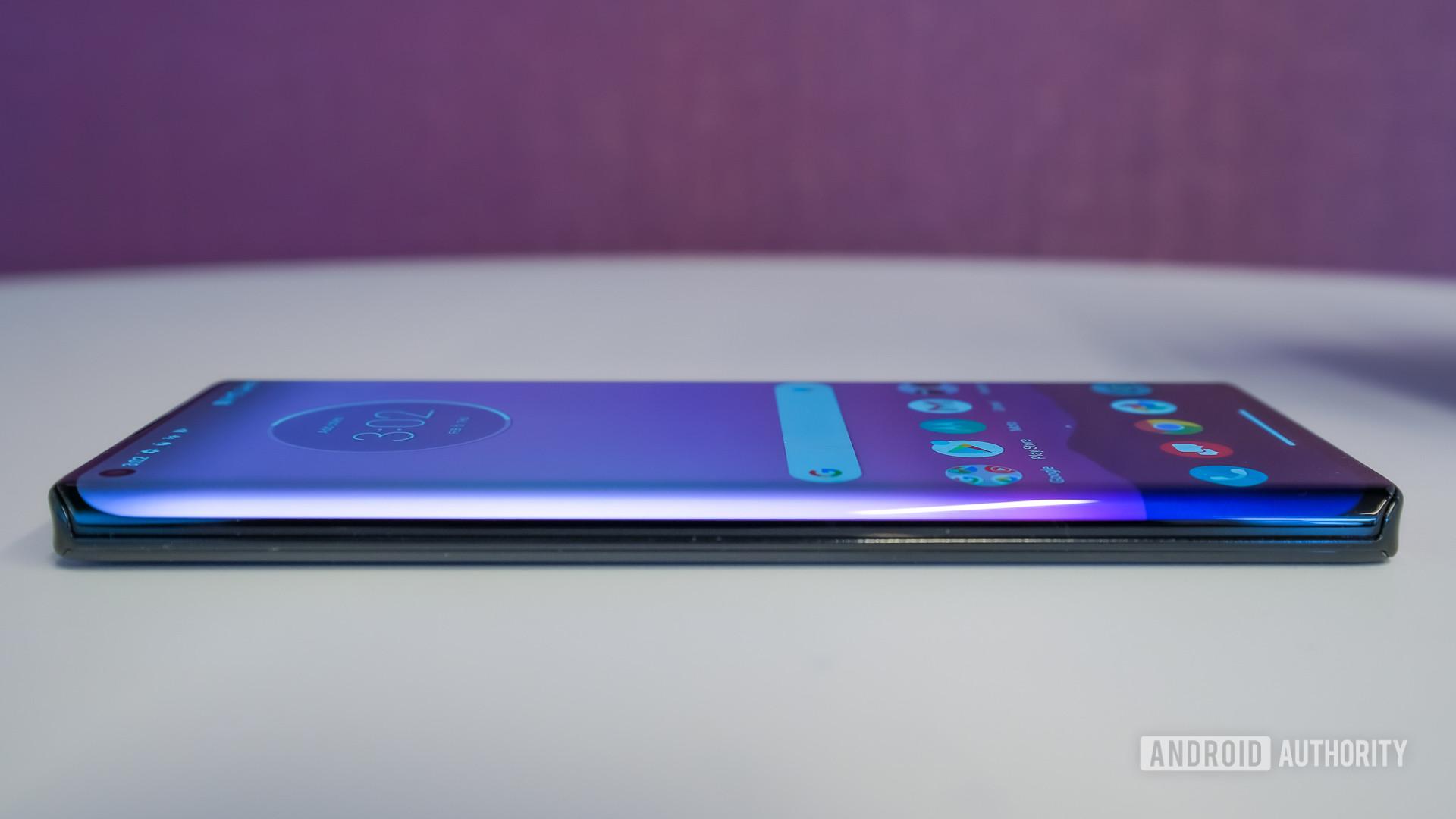 Motorola Edge Plus edge on
