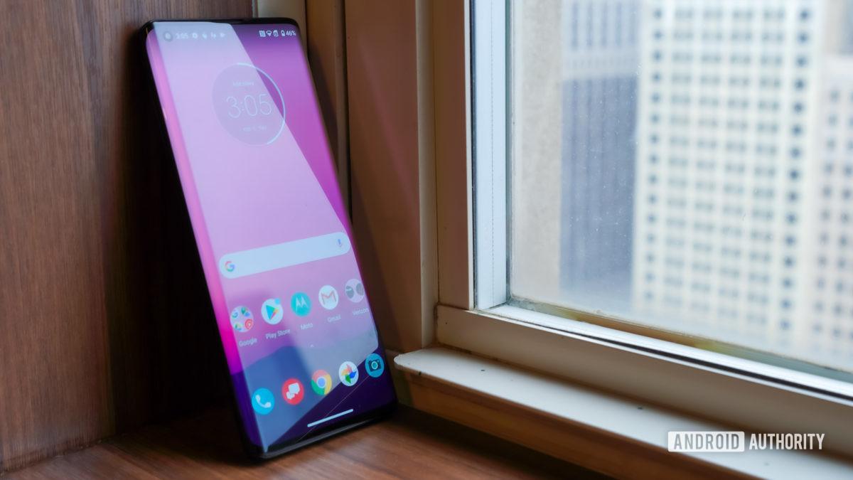 Motorola Edge Plus in repose