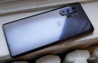 Motorola Edge Plus on window sill