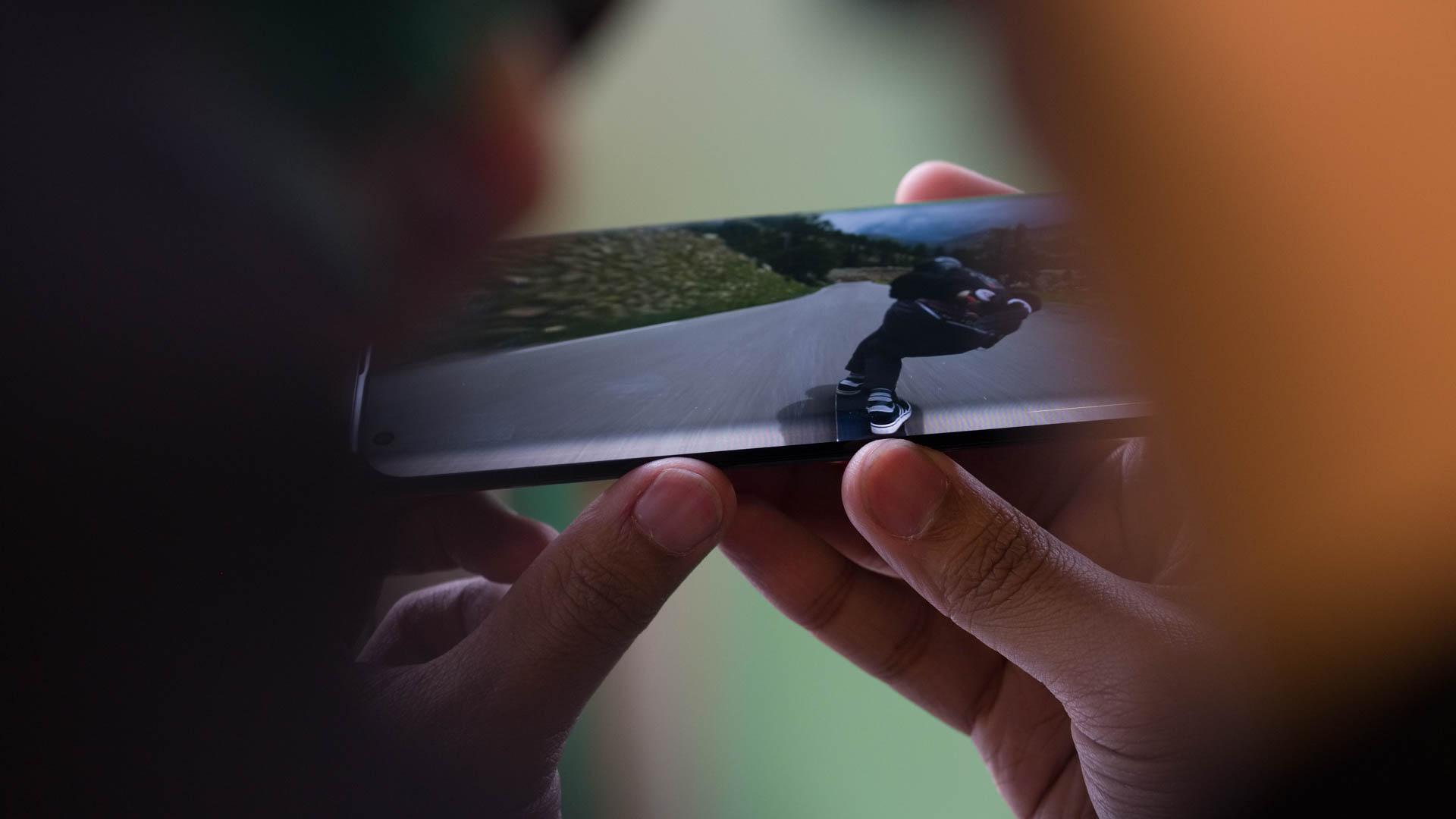 Motorola Edge edge of display