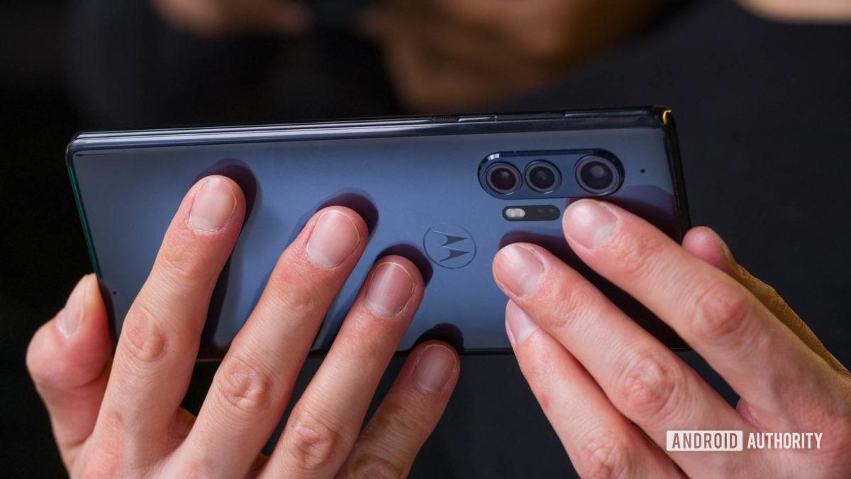 Motorola Edge landscape in hand