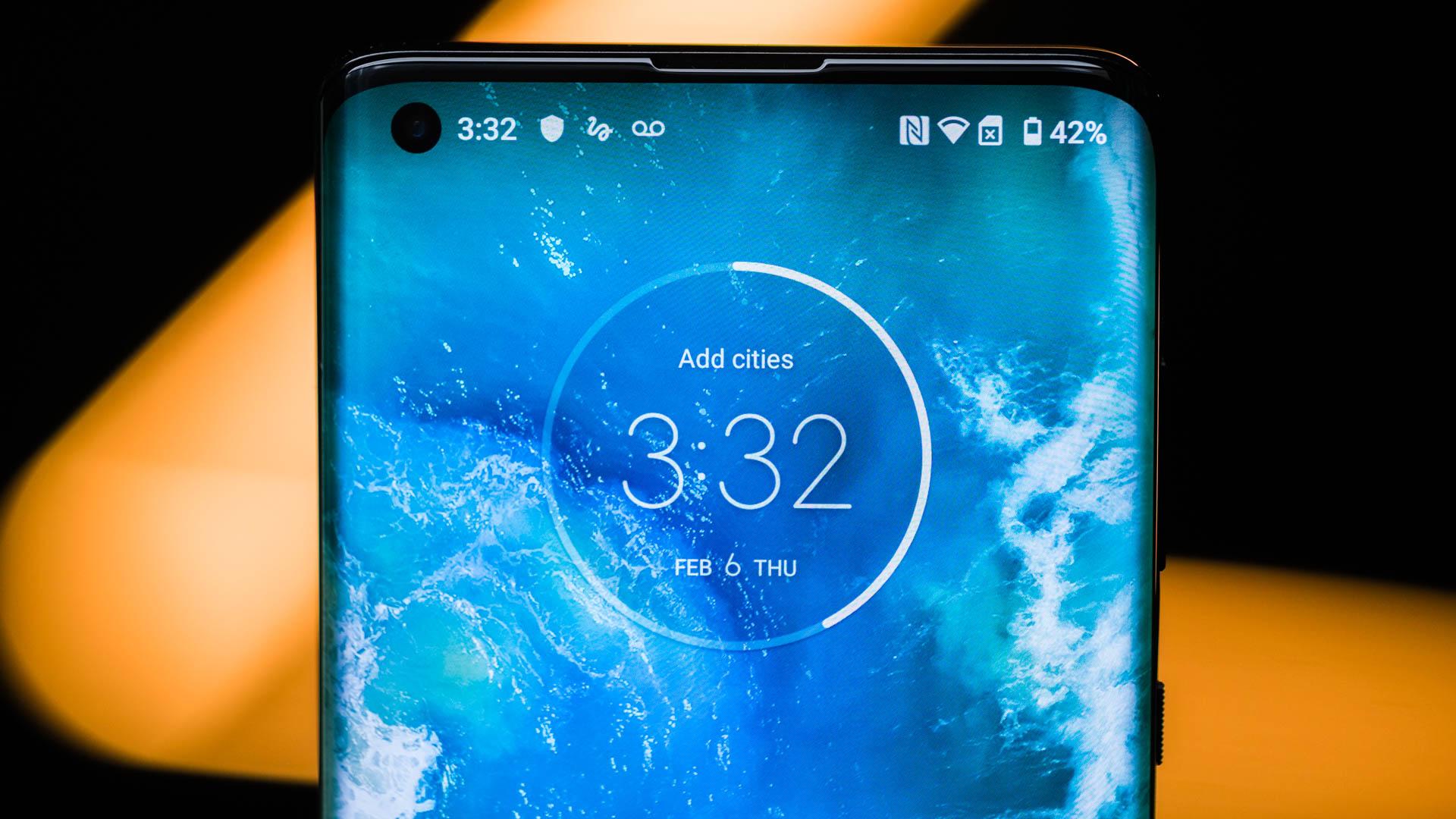 Motorola Edge top half of display 2