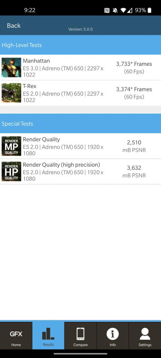 OnePlus 8 GFXBench