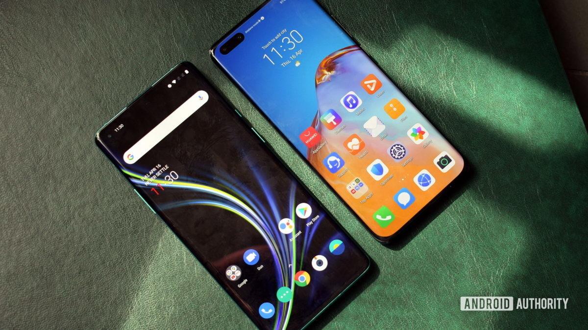 OnePlus 8 Pro vs Huawei P40 Pro displays