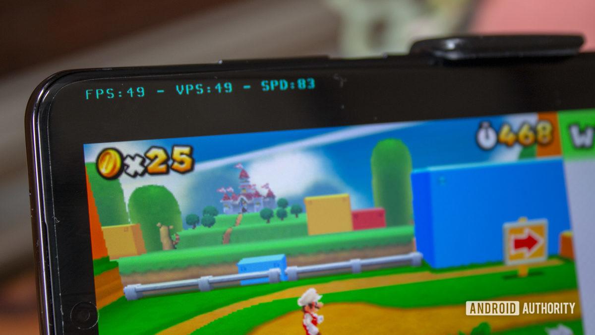 Samsung Galaxy S20 Ultra Nintendo 3DS Emulation Super Mario 3D Land FPS