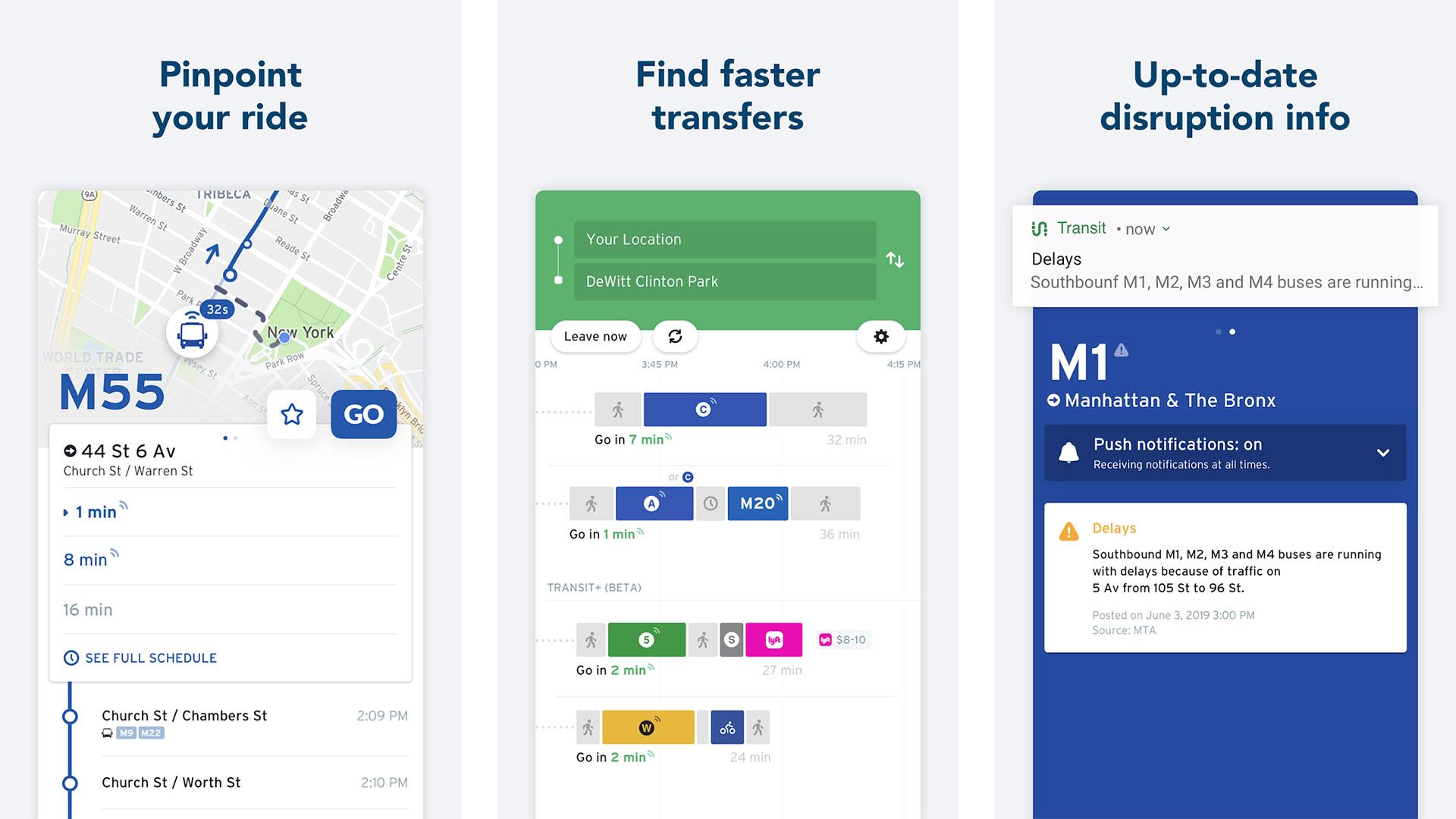 Transit screenshot 2021