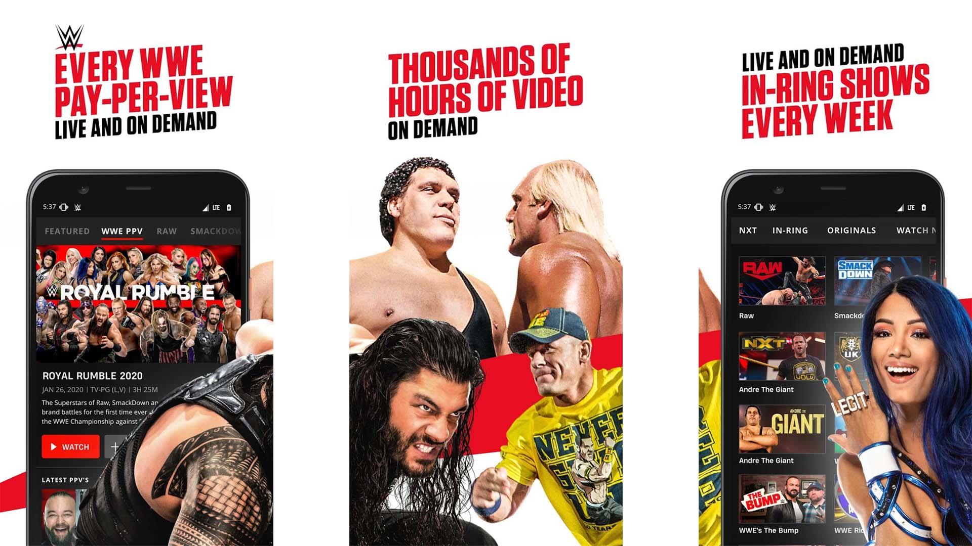 WWE screenshot 2021