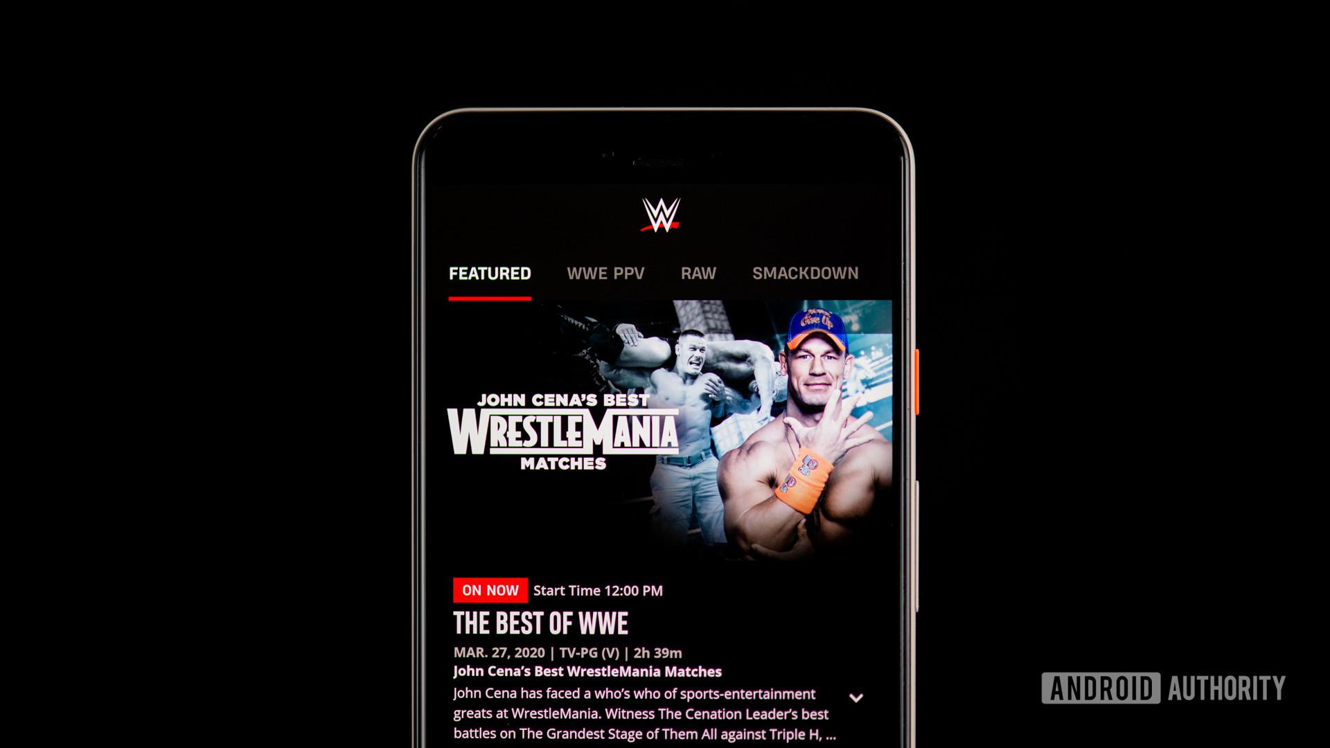 WWE stock photo with John Cena