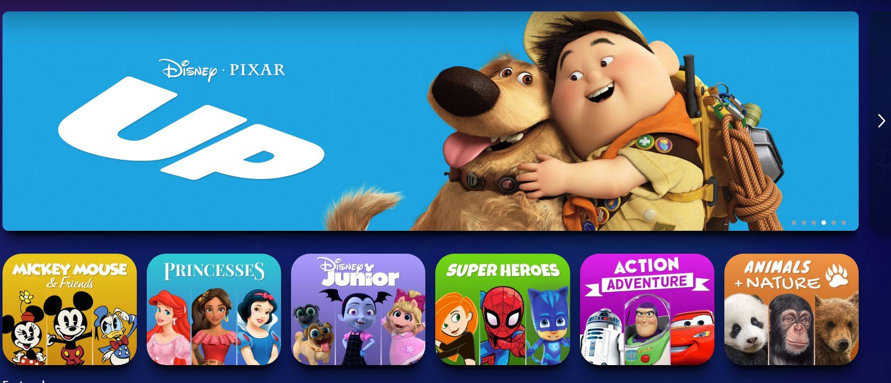 disney plush kids profile interface