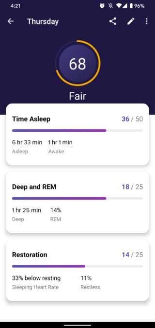 fitbit premium review sleep score overview