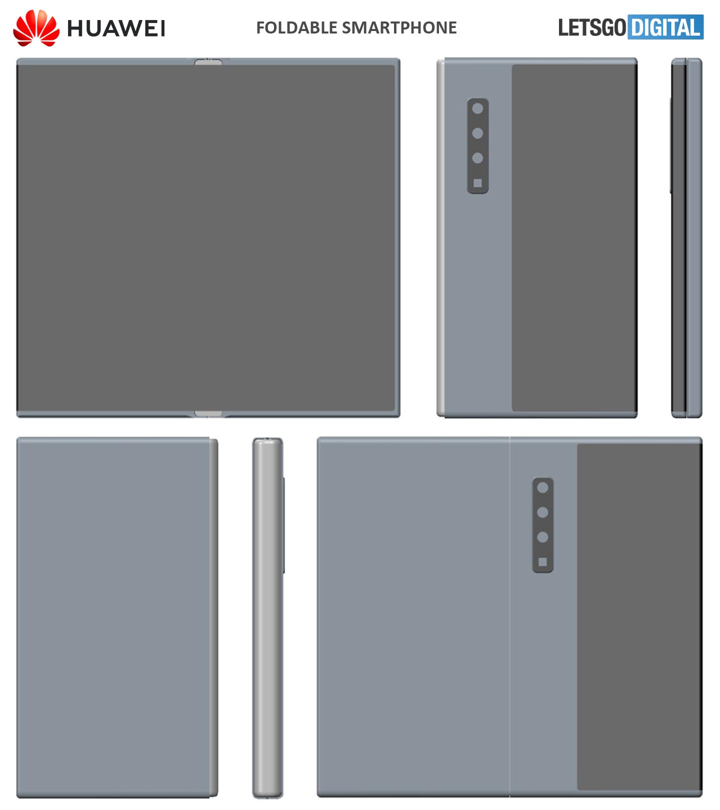 huawei foldable phone patent letsgodigital