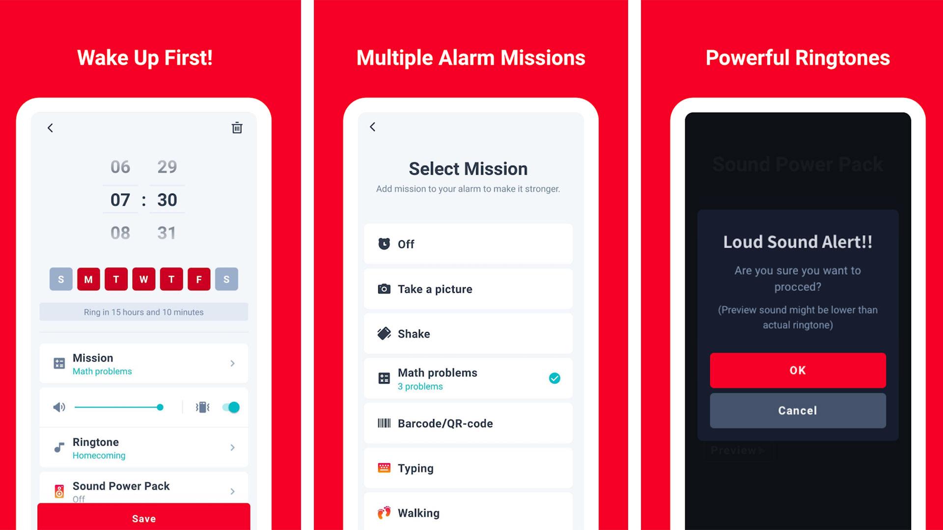 Alarmy screenshot 2021