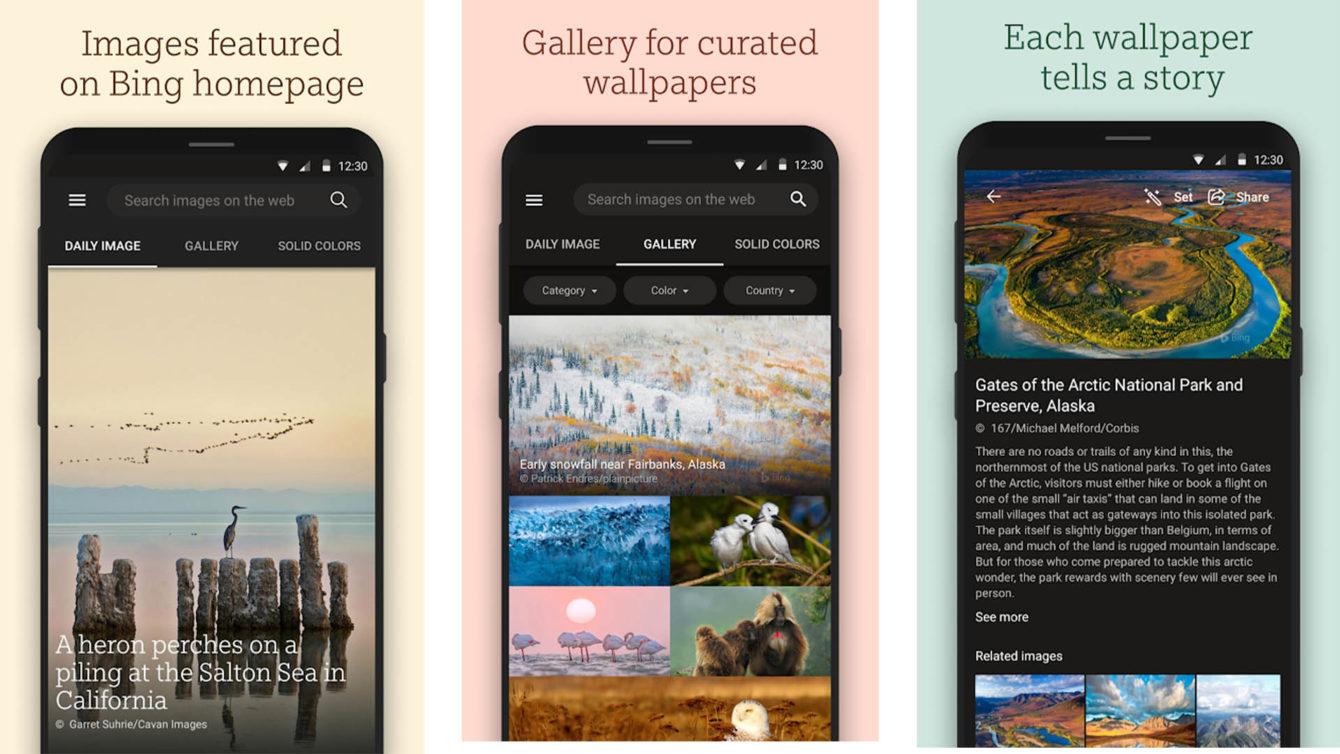 Bing Wallpapers screenshot