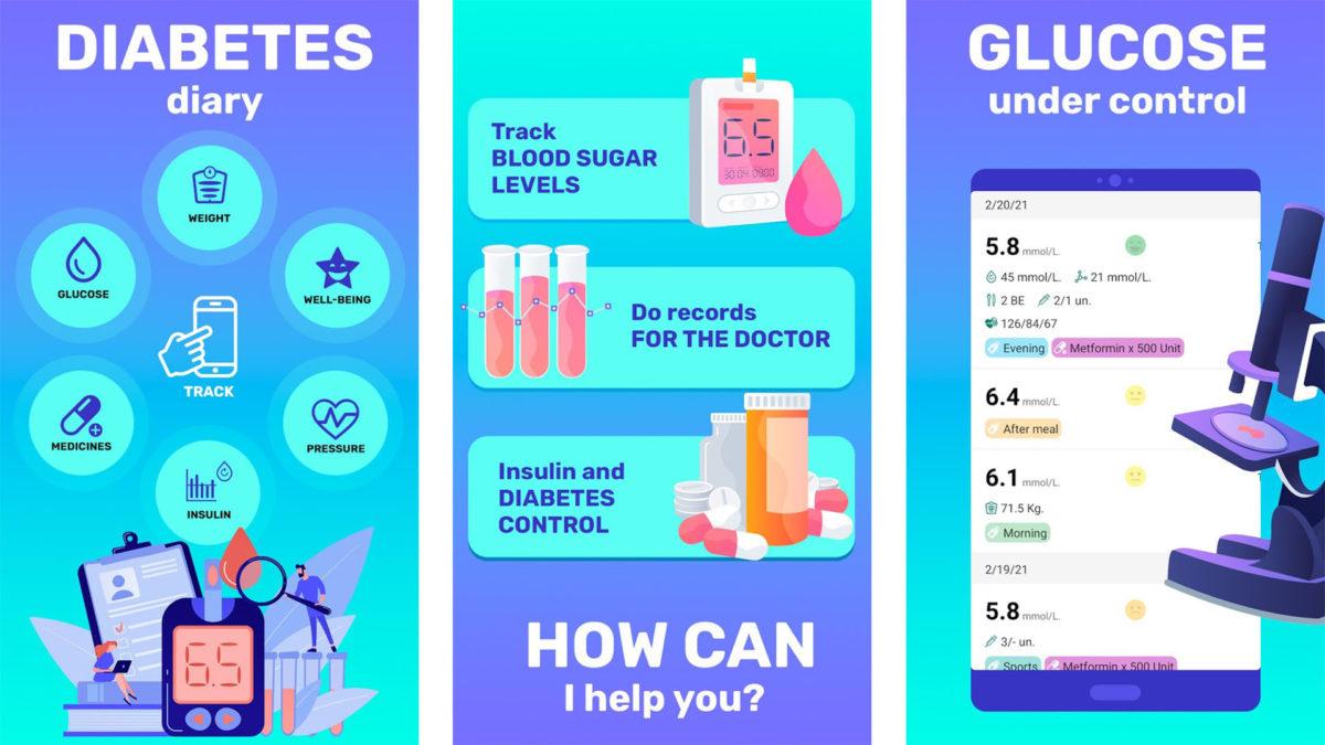 Glucose Tracker and Diary 2021 screenshot