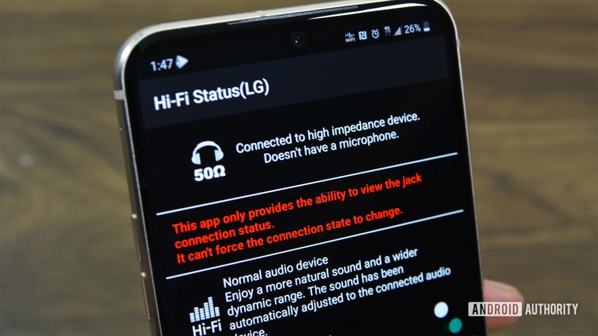 HiFi Status LG app