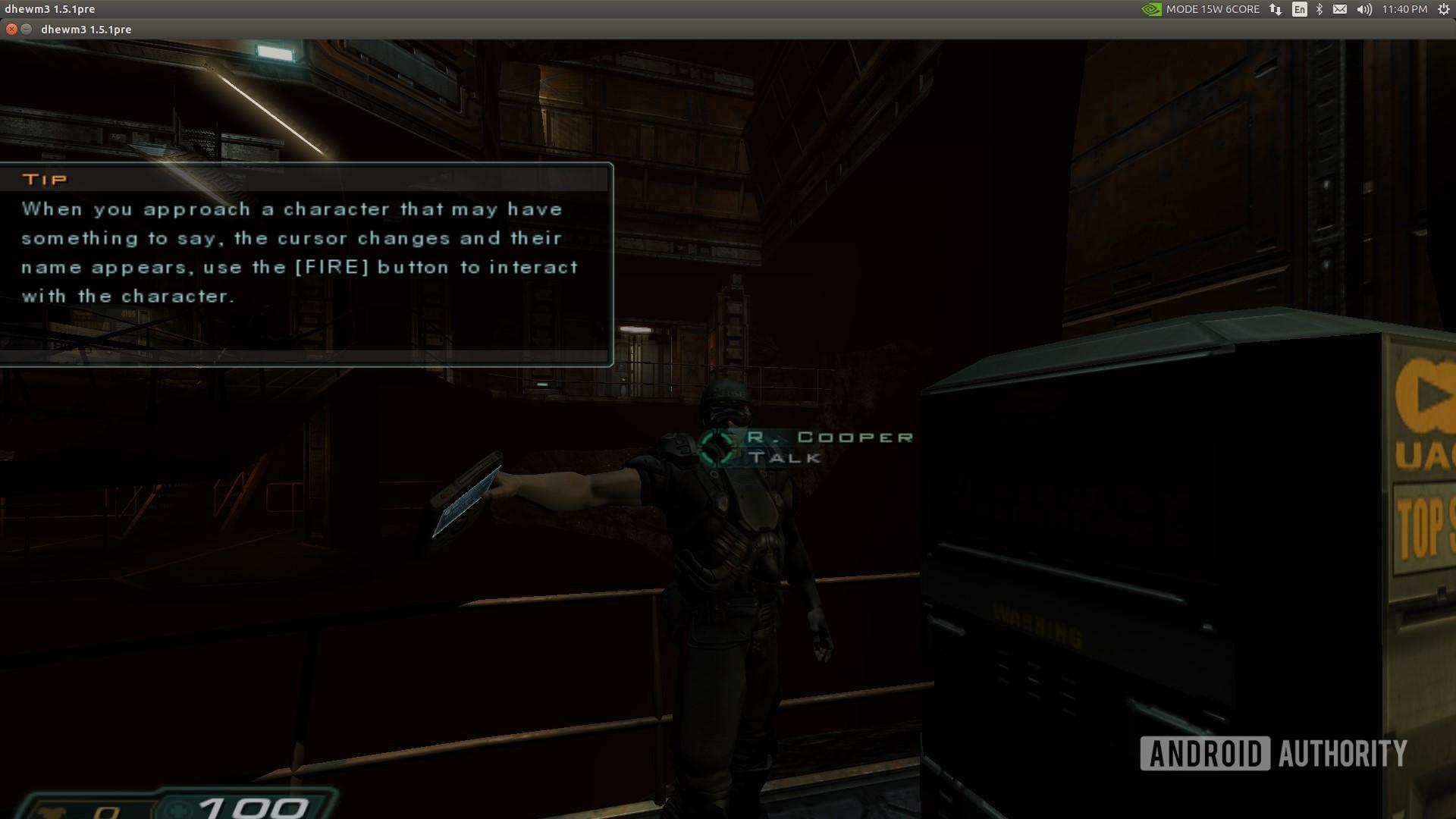 Jetson Xavier NX running Doom 3 in a window
