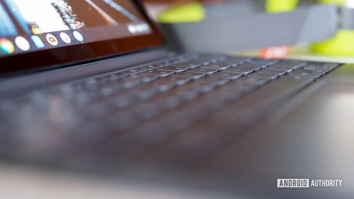 Lenovo Chromebook Duet keyboard profile