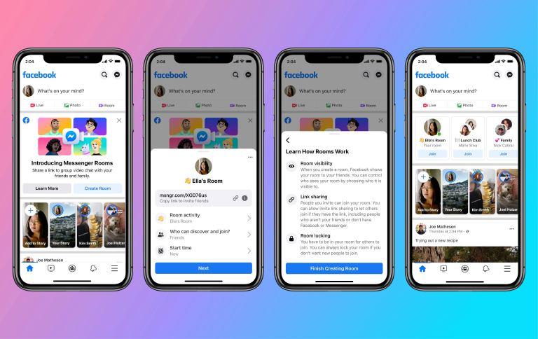 Messenger Rooms On Facebook App