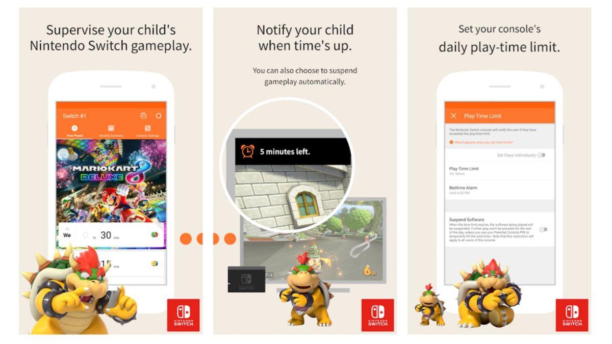 Nintendo Switch Parental Controls app screenshots