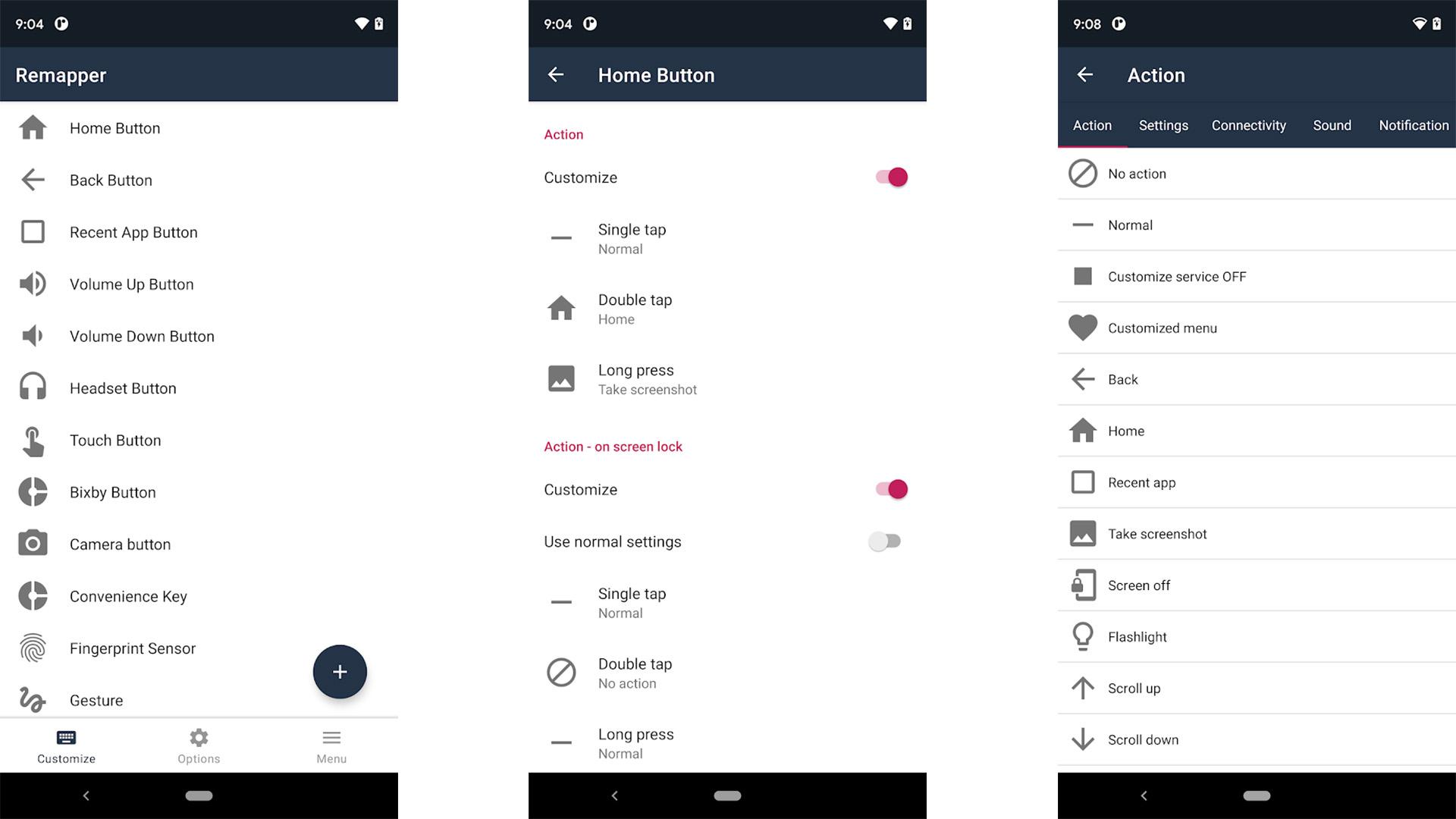 Remap buttons and gestures screenshot 2021