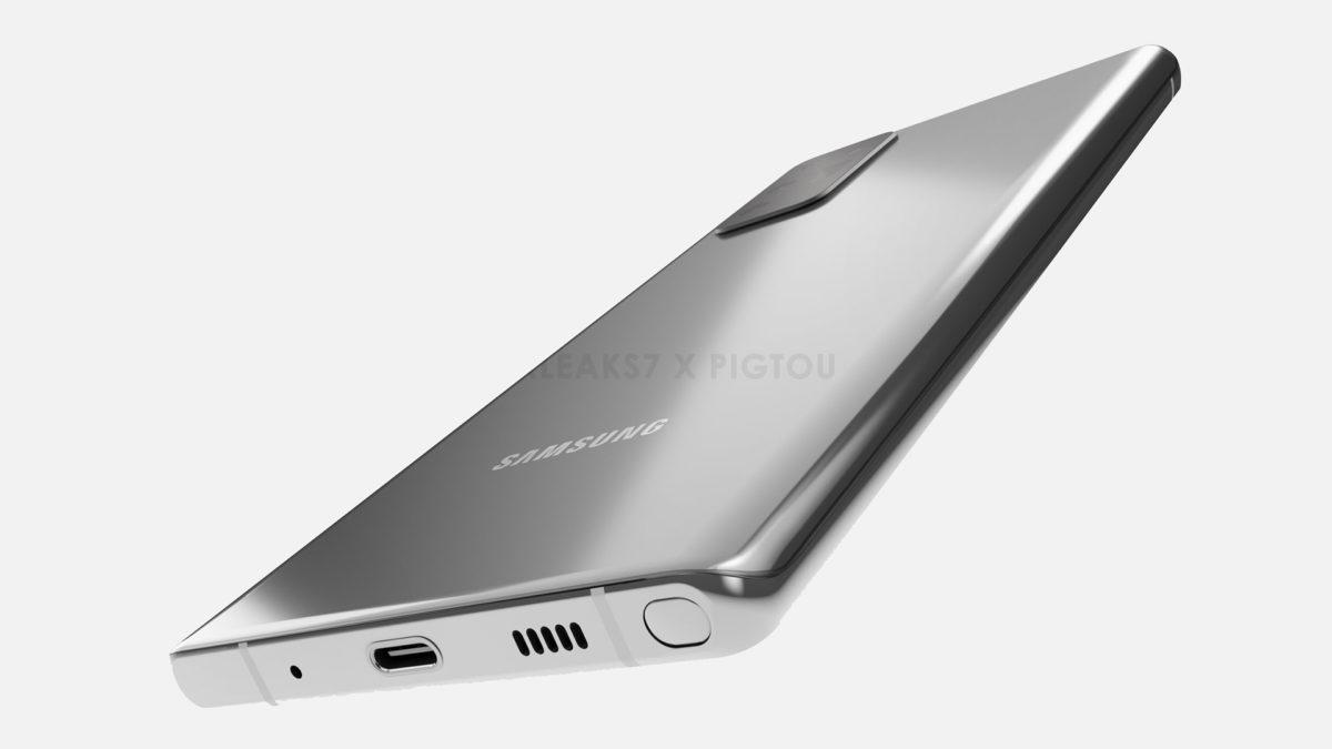 Samsung Galaxy Note 20 просочилась рендеринга 1