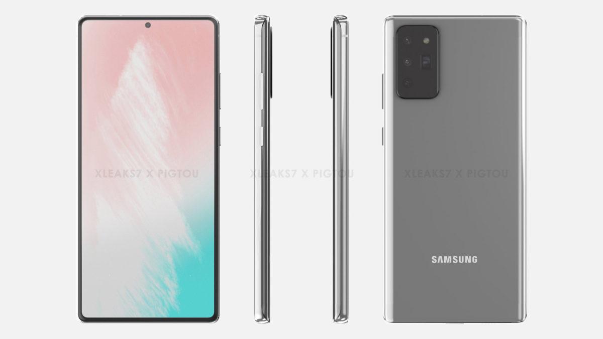 Samsung Galaxy Note 20 просочилась рендеринга 2