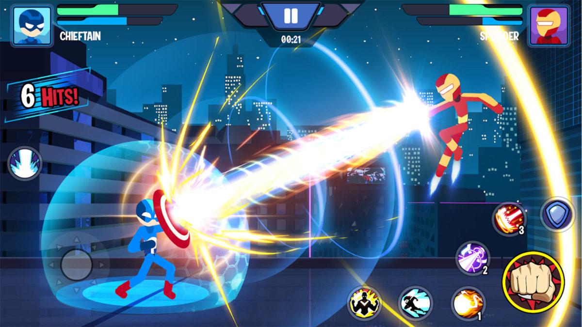 Captura de pantalla de Stickman Heroes Fight