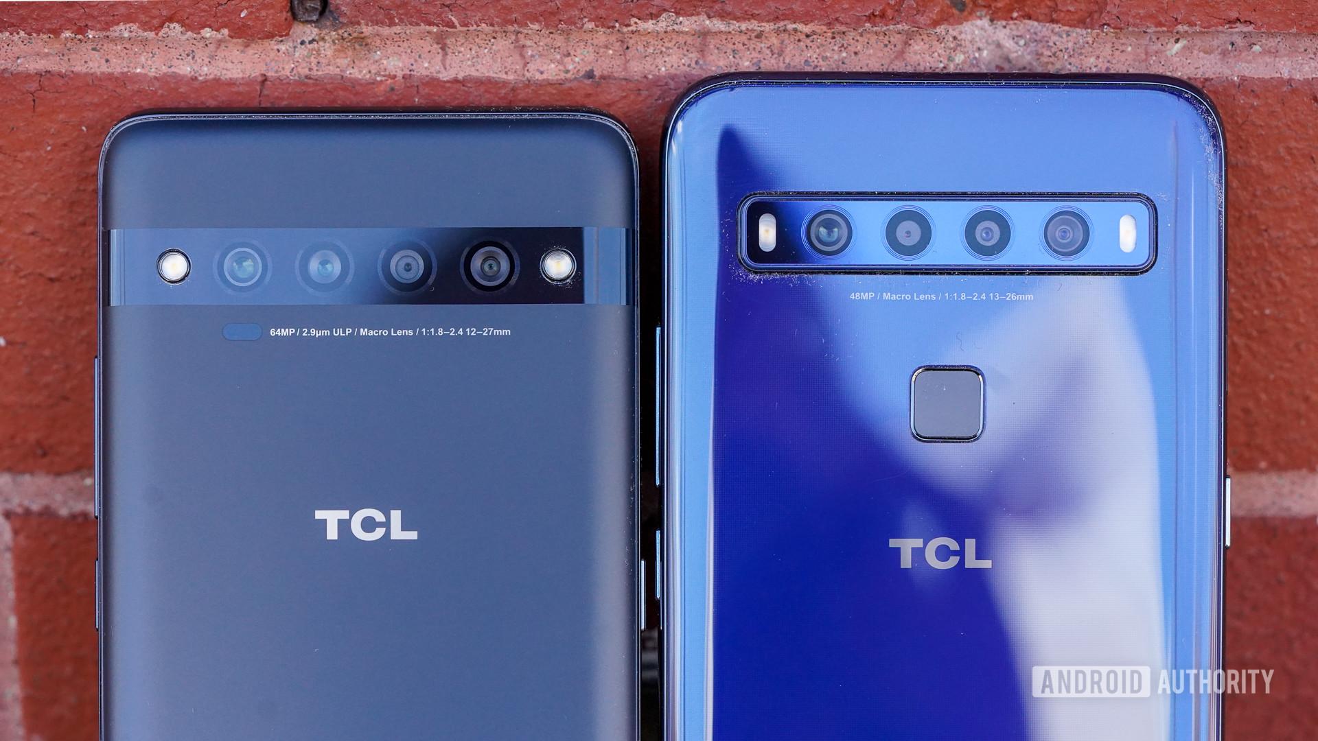 TCL 10 Pro and 10L camera closeups