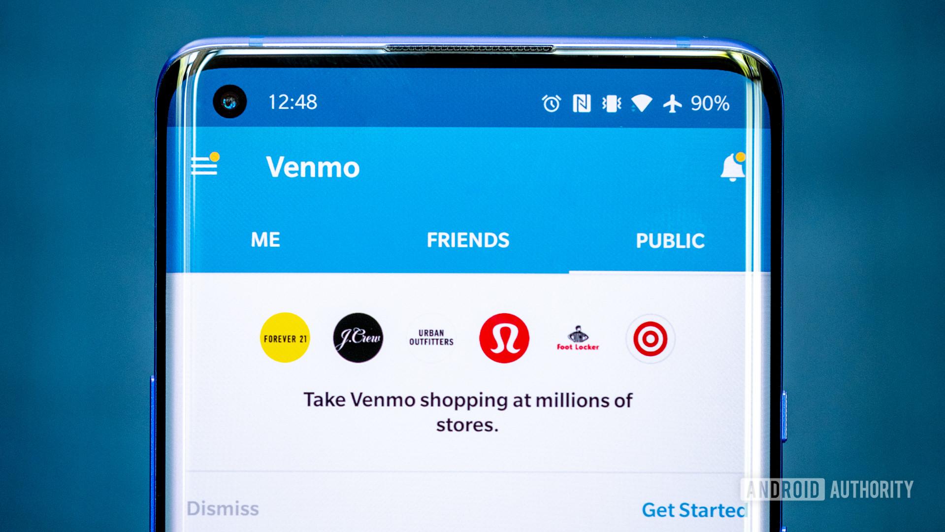Venmo vs PayPal - Venmo app on phone