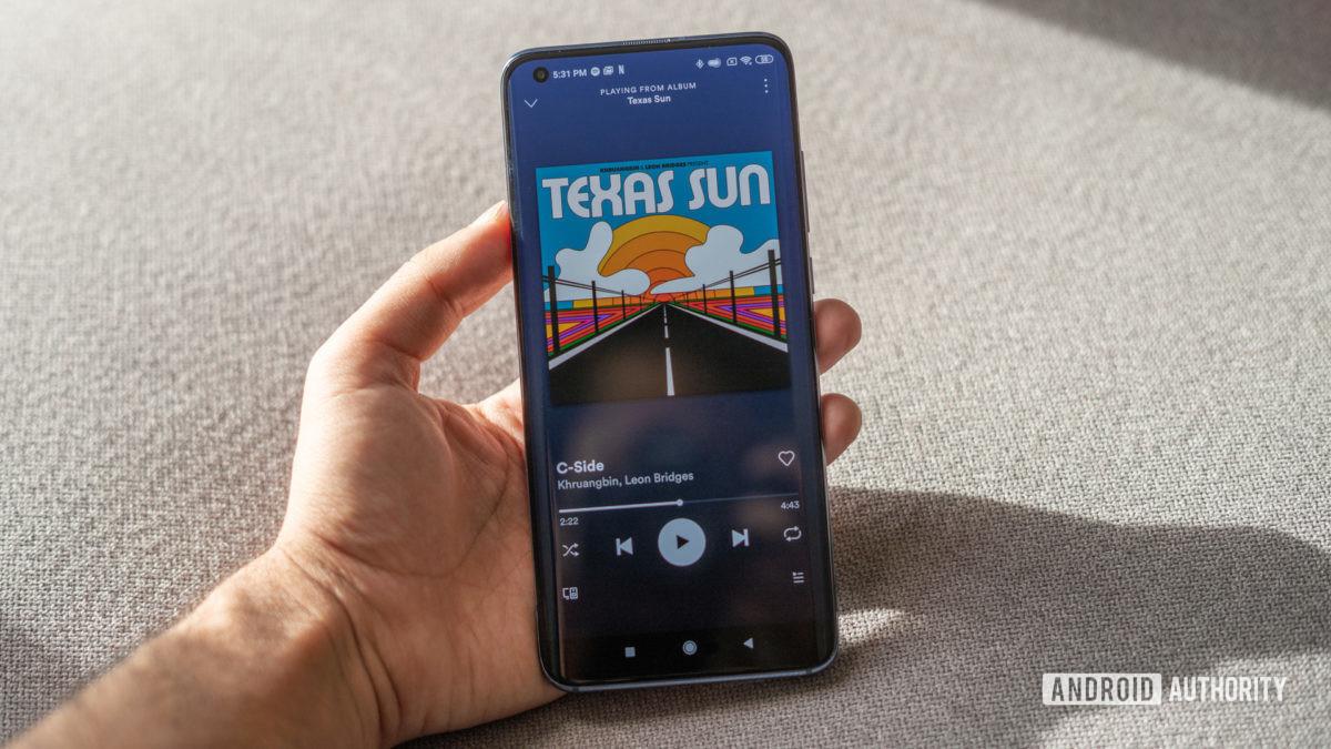 Xiaomi Mi 10 in hand display in sunlight