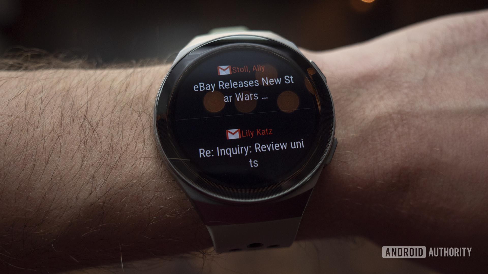 huawei watch gt 2e review gmail notifications