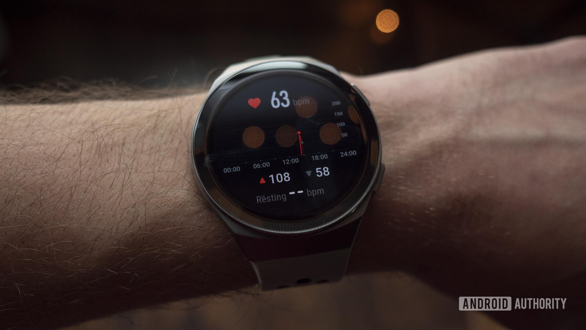 huawei watch gt 2e review heart rate display screen