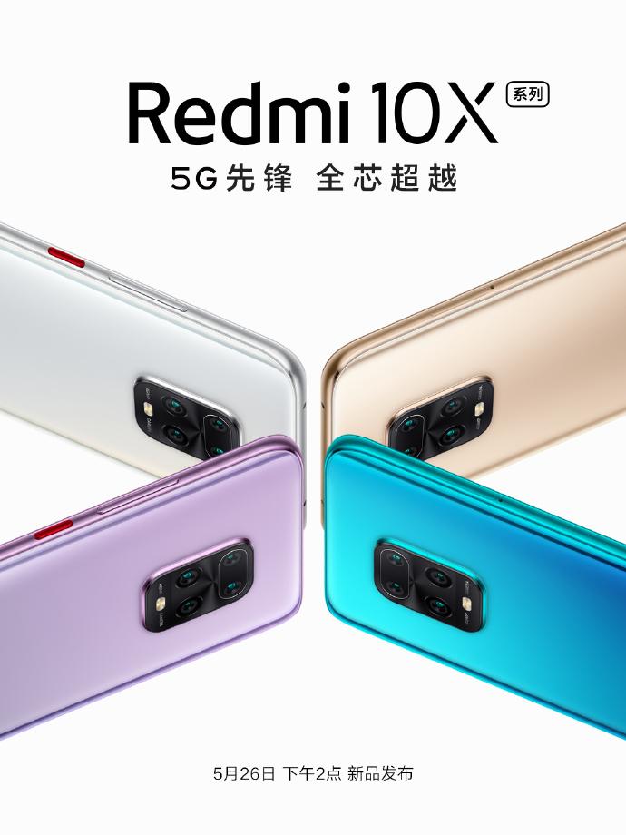The Redmi 10X series, seen on Weibo.