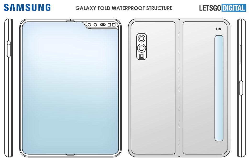 samsung galaxy fold patent letsgodigital ticker screen