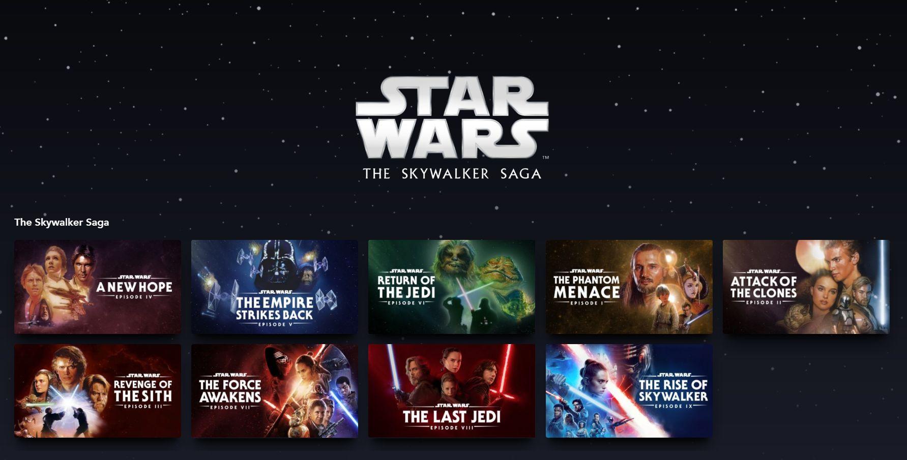 star wars disney plus