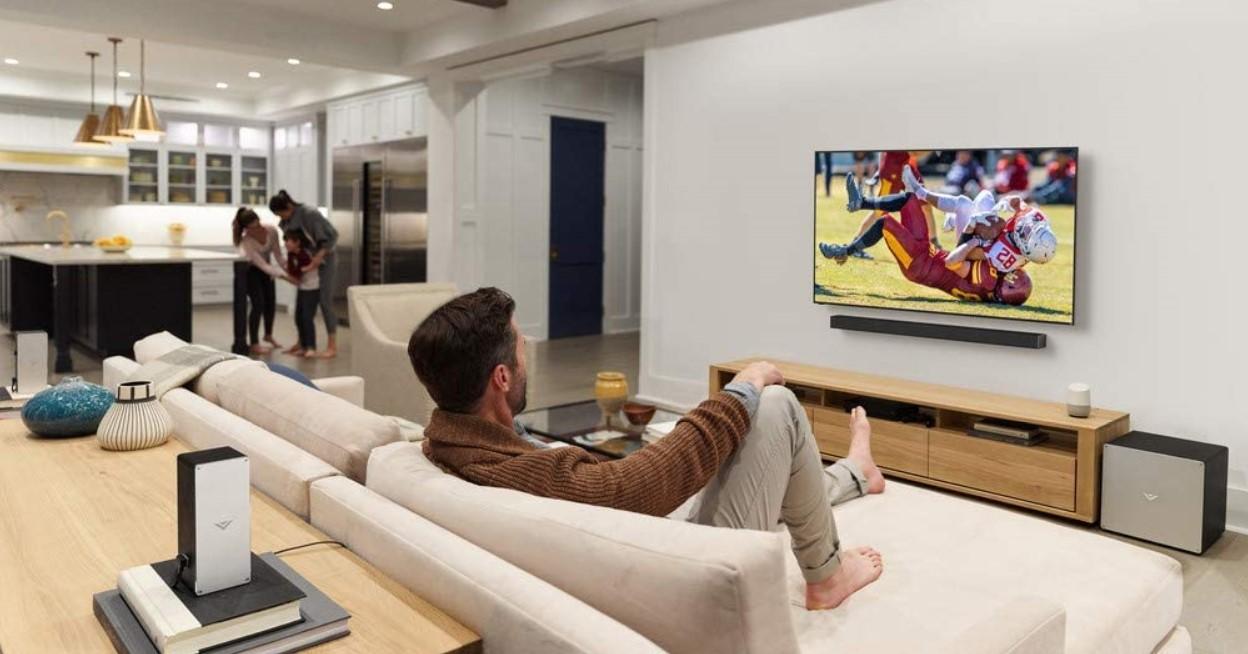 vizio 65 inch quantum tv scene