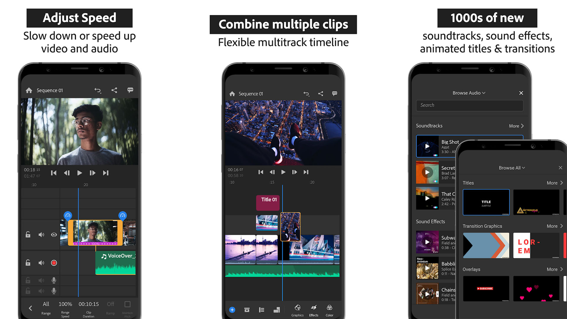 Adobe Premiere Rush screenshot 2021