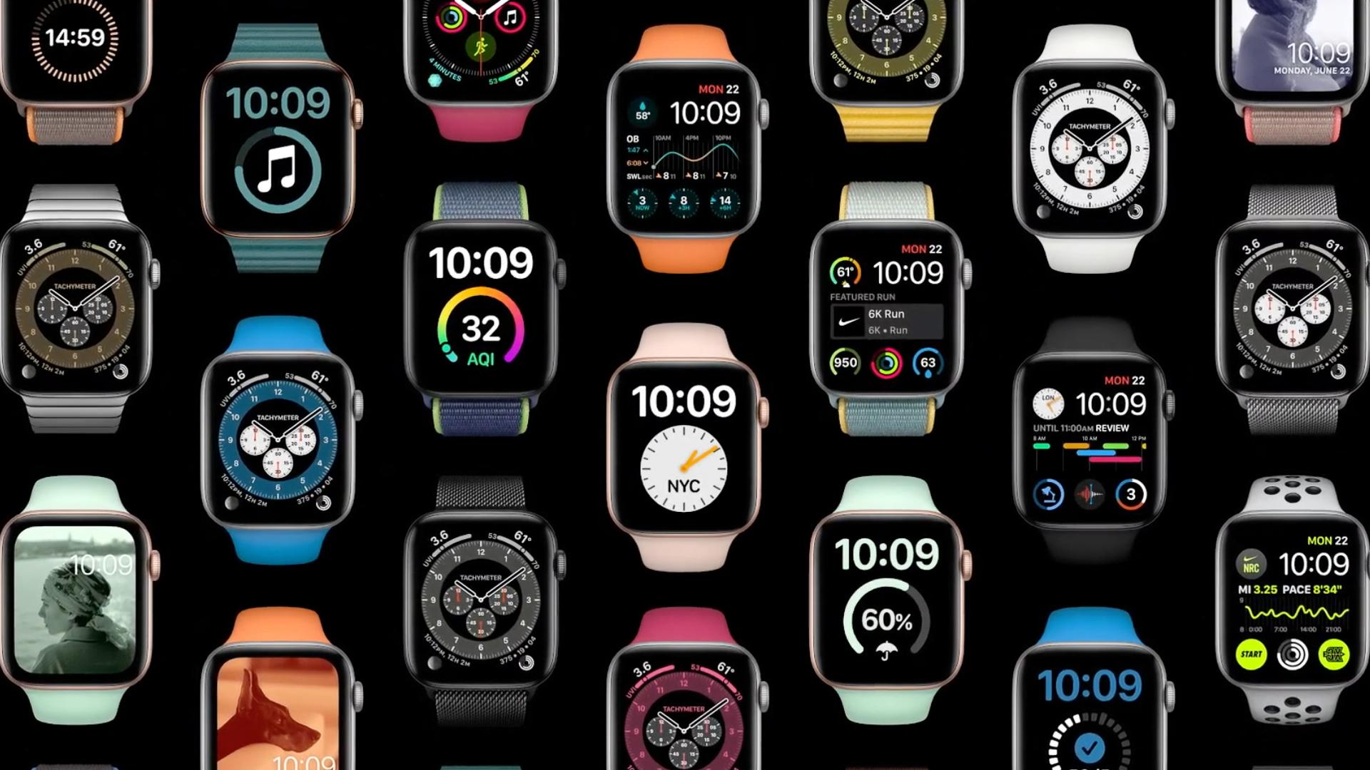 Apple WWDC 2020 watchOS faces