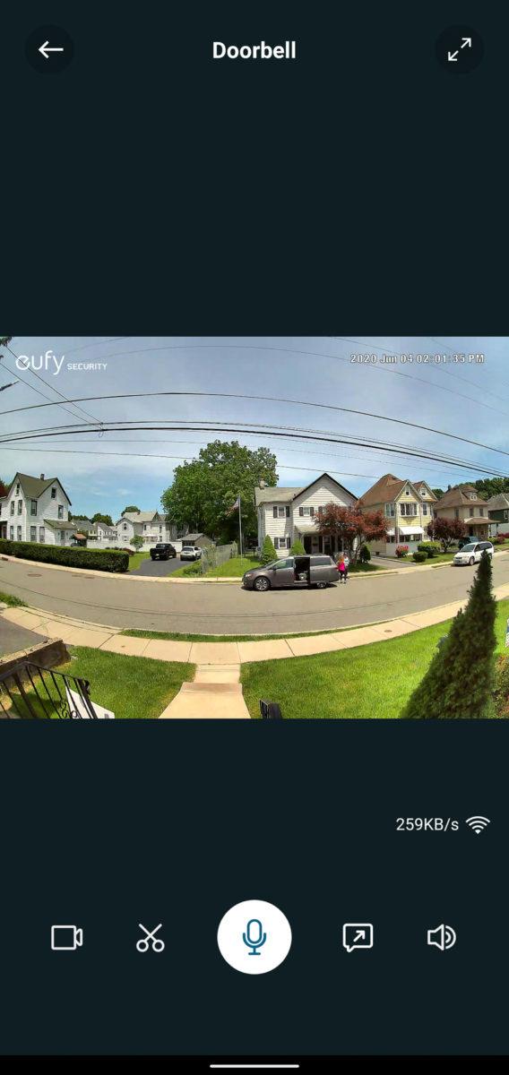 Eufy Video Doorbell live view