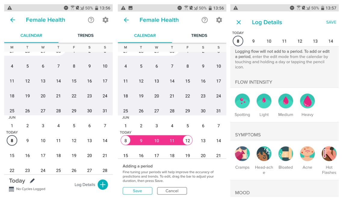 Fitbit period tracker