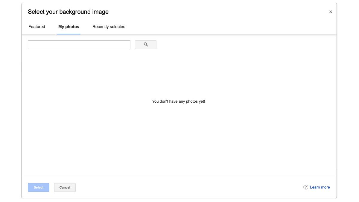 Google photos page