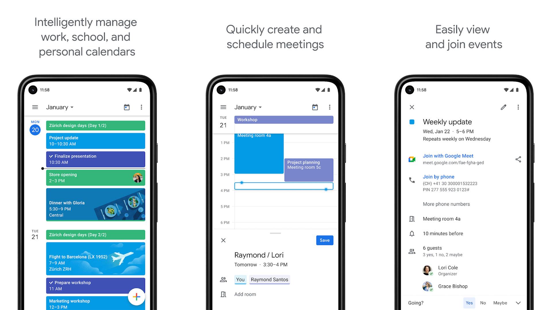Google Calendar screenshot 2020